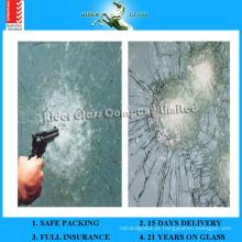 6.38-43.2mm AS / NZS2208: 1996 Bulletproof prova de bala de vidro