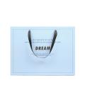 Handmade ivory board branded paper shopping bag