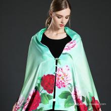 Grüner Digitaldruck Schal Schal mit Knöpfen