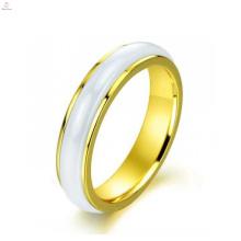 Melhor qualidade coreana personalidade suave rotativo, anel de casamento de cerâmica de ouro rosa para as mulheres