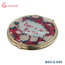 Maquillaje plateado oro romántico espejo de bolsillo para regalo de boda