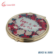 Romantic Gold Plated Makeup Pocket Mirror for Wedding Gift