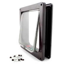 2018 Upgraded Model New High Quality Pet Door Replacement Flap Dog and Cat Door Customized Plastic Lockable Magnetic Pet S M L Size Dog Flap Cat Door