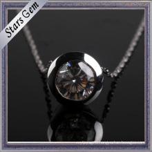 Exquisite Round Bezel Setting CZ Jewellery Pendant
