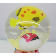 45mm Fish Light Flash Glitter Led Bounce Ball