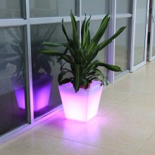 Fashionable Plastic Rectangular Led Flower Pots