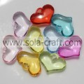 Iridescent 5*15*20MM Transparent Colors Fashion Heart Spacer Beads Wholesale
