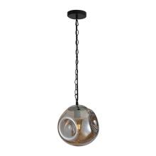 Modern coffee shop ceiling smoky glass pendant lamp