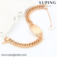 74540- Xuping Jóias Moda 18k banhado a ouro Men Bracelet