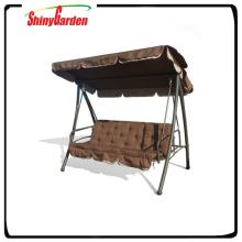 Shinygarden Outdoor-Garten Baldachin Schaukel Bett, Schaukel Bett mit Baldachin Kissen, liegender Outdoor-Schaukel