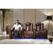 Muebles de casa Sofá reclinable de cuero modelo 929