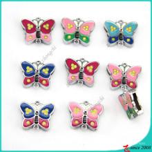 Nuevo diseño de joyería de encantos de mariposa de 8 mm (SC16040957)