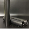 Directamente fabricante 3k tubo de fibra de carbono mate forma redonda