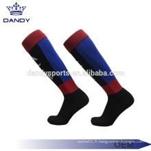 Chaussettes de rugby personnalisées en coton pour hommes