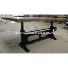 Industrial Crank Table Vintage Replica