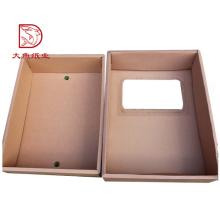 Boa qualidade fábrica fornecedor reciclável personalizado ondulado caixa de frutas atacado