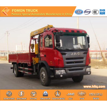 JAC 4*2 crane truck 5tons with straight arm