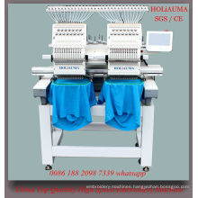New Condition 2 Head 15 Color Computerized Automatic Embroidery Machine for 3D Cap Garment Embroidery