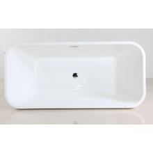 Bañera de pie blanca de acrílico de interior