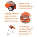 Foldable Freestanding que acampam o fogão de gás do dobro queimador