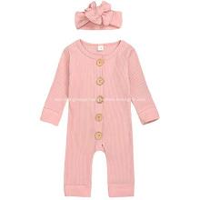 Pink children's one-piece knit sweater