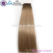 Más popular de espesor grueso doble dibujada rubia eslava Remy armadura del pelo