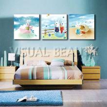 Vente en gros de décoration intérieure Reproductions sur toile Image de dessin animé pour chambre d'enfant