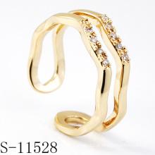 925 prata esterlina moda jóias anel (s-11528.)