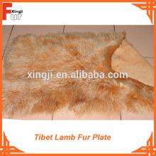Grade A Langes Haar Curly Tibet Lamm Pelzplatte
