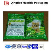 Gravure que imprime las bolsas de plástico de empaquetado modificadas para requisitos particulares de la litera del gato de tres sellos