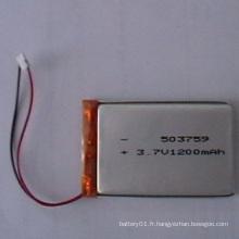 3.7V 1200mAh Batterie Li-Polymer 503759 Batterie rechargeable