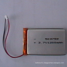 3.7V 1200mAh Li-Polymer Battery 503759 Rechargeable Battery