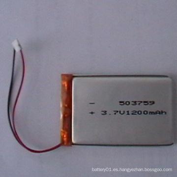 503759 Li-ion batería 3.7V 1200mAh Polímero de iones de litio de baterías para la venta