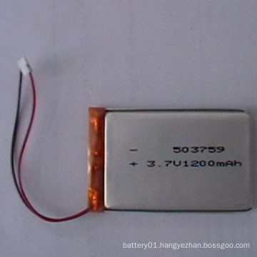 503759 Li-ion Battery 3.7V 1200mAh Polymer Lithium-Ion Batteries for Sale