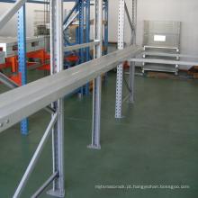 Prateleira de armazenamento de sistema para rack de paletes para veículos pesados