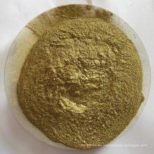Polvo de bronce dorado para pintura.