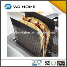 2016 nouveau produit cuisine teflon certificat de qualité alimentaire non bâton facile à utiliser teflon sandwich grille-pain sac