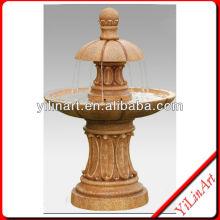 Yellow Granite Mushroom Indoor Mini Water Fountains YL-P263