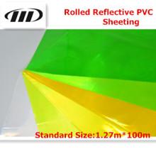Oferta rodado el cubrir reflexivo del PVC (transparente)
