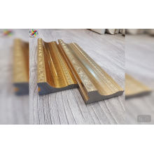 New material for interior decoration gold silver decorative custom plastic moulding