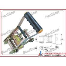 "2""- 50mm Hot Sale Rubber Medium Handle Ratchet Belt Buckle"