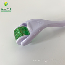 Micro Derma Roller pour la croissance des cheveux avec 540 aiguilles