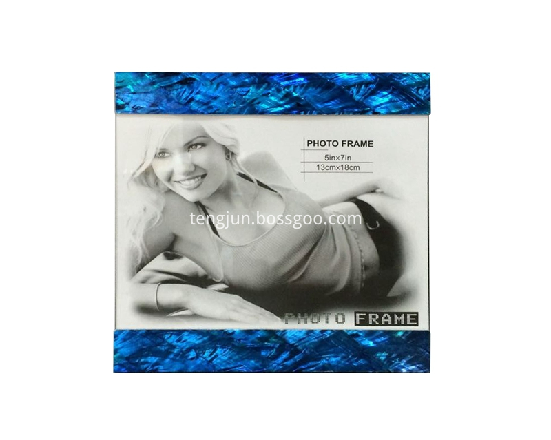 blue paua photo frame