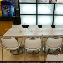 Spanish Popular Lg Solid Surface Dinner Table And Chairs Marble Table Tops 700*700 Mm