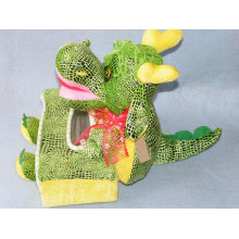 Caja de tejido de peluche de dragón