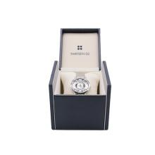 Wholesale Custom Logo Blue Black Watch Storage Box Cardboard Luxury Watch Gift Box Single Packaging Watch Boxes Cases