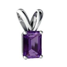Colgante de plata esterlina 925 colgante púrpura
