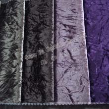 Tissu d'ameublement velours Super doux canapé avec support tricoté