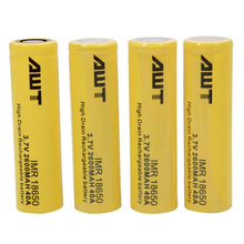 Awt 18650 2600mAh 40A 3.7V Lithium Li Ion Rechargeble Battery