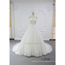 Princess A Line Elegant Lace Design Bridal Dress Wedding Gown